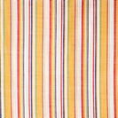 Close_up of woven vintage fabric with colorful stripes on cotton