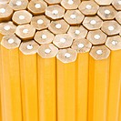 Close up of unsharpened pencils