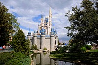 Cinderella Castle at Walt Disney Magic Kingdom Theme Park Orlando Florida Central