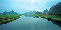 landscape, river, scenery, field, mountain, natural