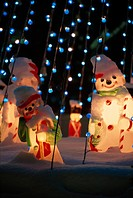 Lights Near Snowmen