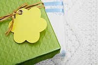 Gifts with tags close_up
