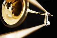 Single trombone close_up