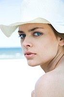 portrait of a woman on beach