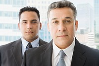Serious Hispanic businessmen