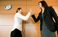 Businesswomen doing high five (thumbnail)