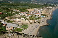 South_East aerial view of Banana/Ionio beach. Zakynthos, Ionian Islands, Greece, Europe