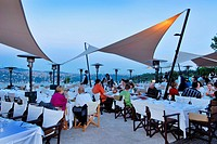 Sunset Restaurant, people enjoying food. Istanbul, Turkey, Western Asia
