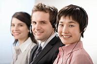 A line of telephone operators