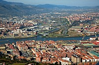 Altzaga, with Barakaldo and Sestao in background, Bilbao, Biscay, Basque country, Spain