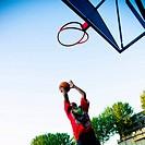 Boys playing Basket Ball in Training Field