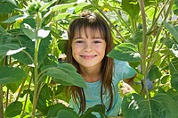 Girl and plants (thumbnail)
