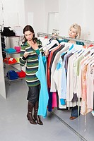 Two women in fashion store