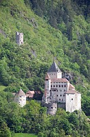 Italy, South Tyrol, Fortress in mountain scenery