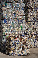 Landfill site, Stacks of plastic waste
