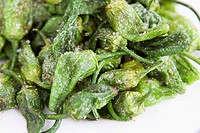 Fried Green Peppers with Rock Salt ´Pimientos al Padron´ Spain