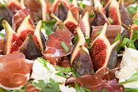 Figs with Parma Ham and Mozarella