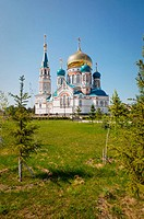 Russia. Omsk. Cathedral of the Assumption. Destroyed in 1935. Recently rebuilt in 2007