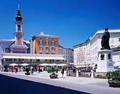 Mozart Square, Salzburg, Austria, Europe, June