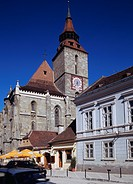 Black church, church, Brashof, Romania, Europe, June