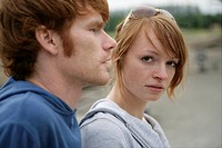 Young couple, portrait, unhappy, depressed, sorrow (thumbnail)