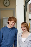 Young couple, happy, flirting, portrait, couple, 2 (thumbnail)
