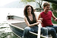 couple, laughing, boat, fun, relax, enjoy, people