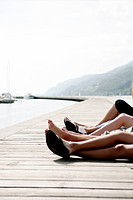 Legs, relaxing, port, harbour, free, portrait, cut (thumbnail)