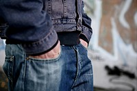 cut out, hands in pockets, jeans, boy, male, man