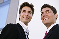 business people, smile, attractive, outdoor, young