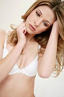 Beauty, care, young, woman, white, bra, slim, mode (thumbnail)
