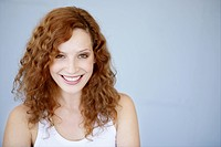 young, woman, beauty, happy, fresh, toothy smile,