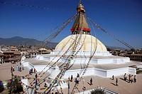 Nepal, Kathmandu Valley, Boudhanath, Bodhnath Stupa