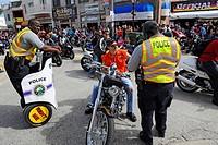 Daytona Beach Florida Biker Week motorcycle police patrol streets