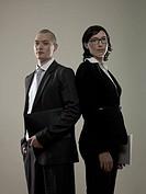 Two business colleagues, portrait