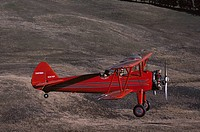Stearman 1940's biplane. Restored