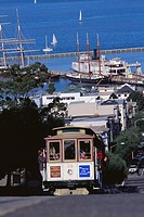 Cable car. Hyde Street, San Francisco, California, USA