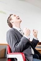 Man feeling happy