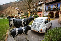 Seat 600, Camino Real hotel, Selores, Cabuerniga valley, Cantabria, Spain