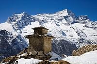 Chorten, Jarok, Kwangde Ri, Sagarmatha National Park, Nepal, Asia, World Heritage