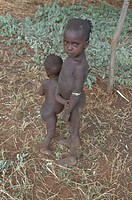 Young kids from the tribe of the Hamer Ethiopia Africa