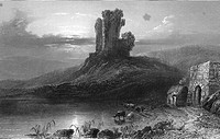 Ireland. County Cork. Kilcolman castle (circa 1860´s) county