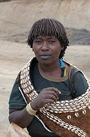 Young tribal woman from the Aari tribe Omovalley Ethiopia Africa