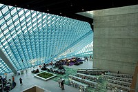 Modern Seattle Central Library, Seattle, Washington, USA, America