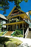 Traditional victorian houses, Vancouver, British Columbia, Canada