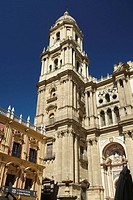 Malaga cathedral on Costa del Sol in Andalucia, Spain