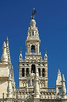 Giralda tower Seville, cathedral Seville Andalucia, Spain, Europe