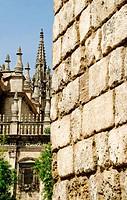 Muro de los Reales Alcázares de Sevilla, Andalucia, España, Europa, Spain