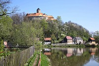 Castle Schoenfels in Lichtentanne city, Saxony, Germany, Europe