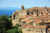 Giglio Castello old town, Isola del Giglio (Giglio Island), Tuscany, Italy